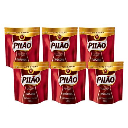 Kit-6-Un-Cafe-Pilao-Em-Po-Tradicional-Abre-Fecha-500g